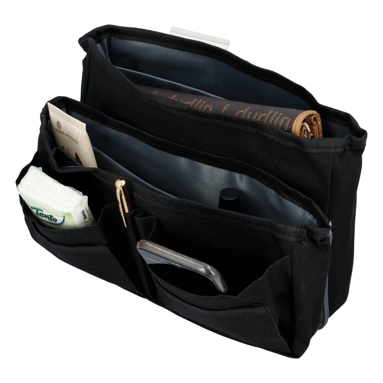 Organizér do kabelky 2 v 1 černý - Delami 13970