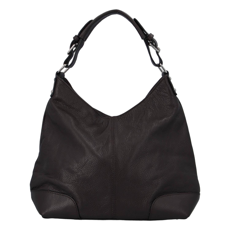 Dámská kožená kabelka tmavě hnědá - ItalY Inpelle