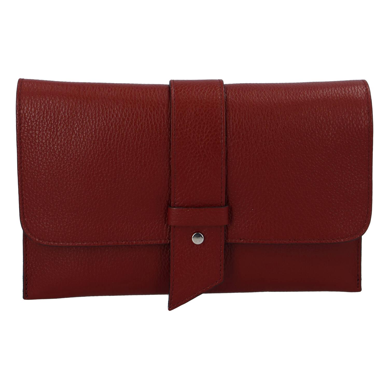 Luxusní dámská kabelka tmavě červená - ItalY Brother