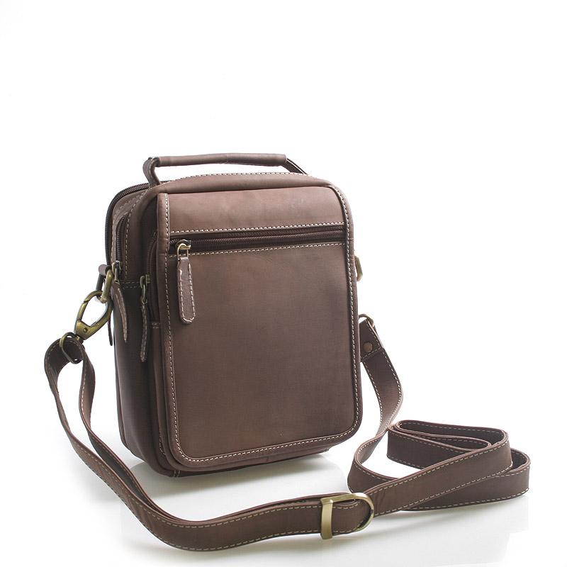 Hnědá kožená taška přes rameno SendiDesign Rico