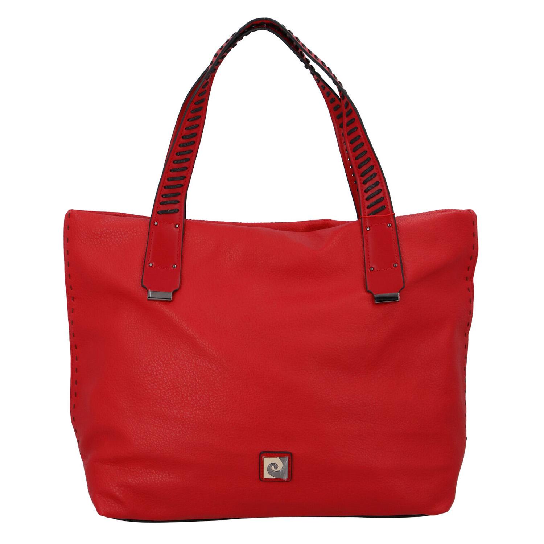 Velká dámská kabelka přes rameno červená - Pierre Cardin Altin