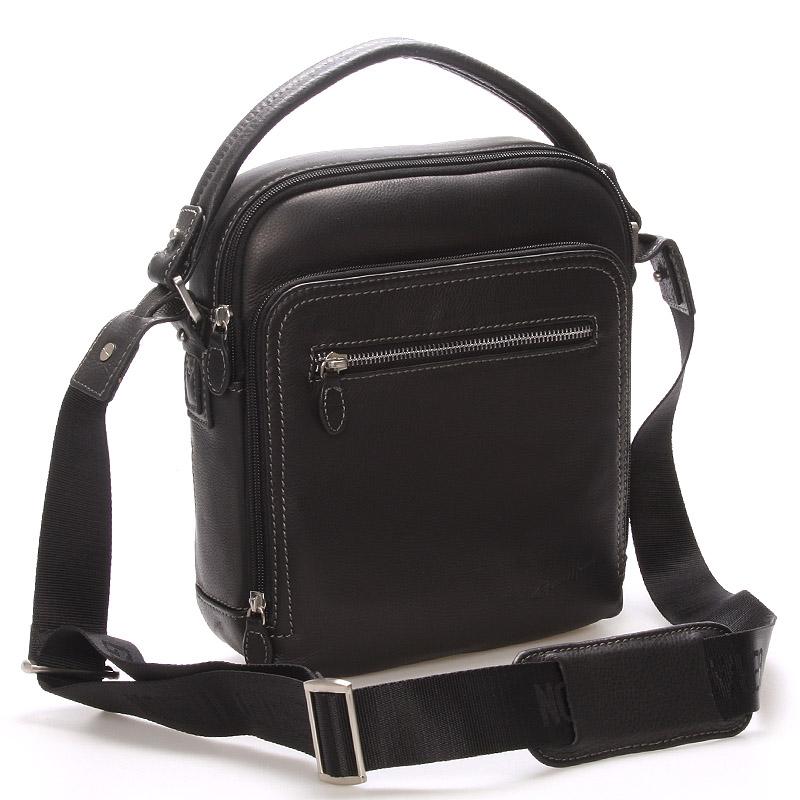 Luxusní pánská kožená taška černá - Gerard Henon Patrick