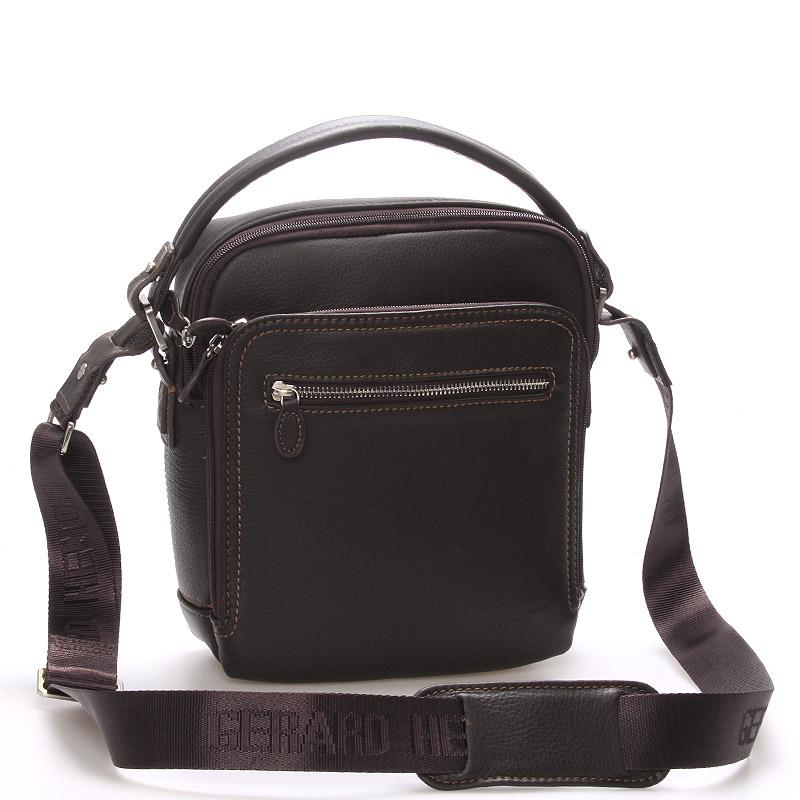 Luxusní pánská kožená taška hnědá - Gerard Henon Patrick