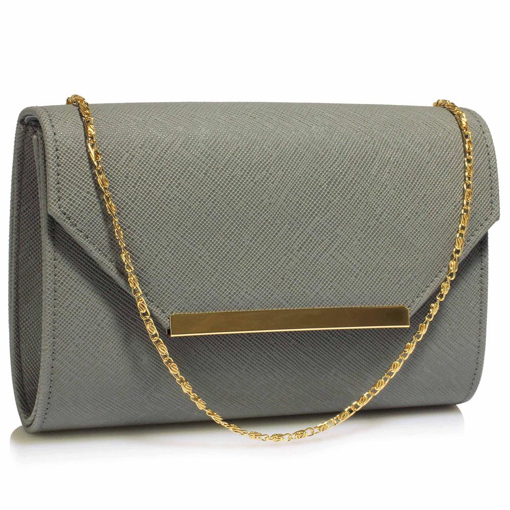 Luxusní šedé psaníčko LS Fashion 0293