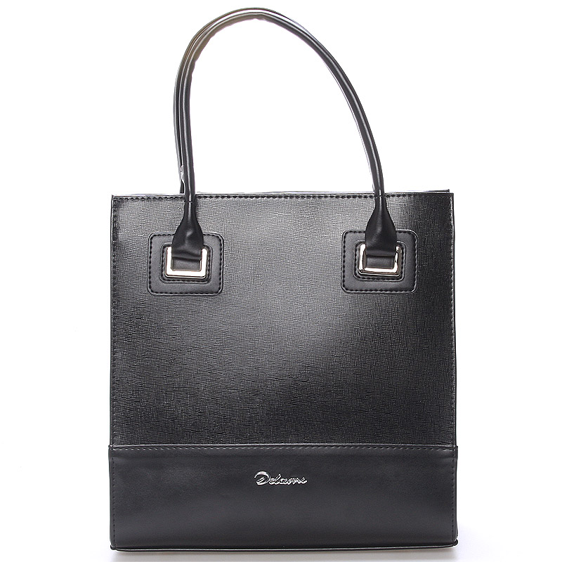Dámská luxusní lakovaná kabelka černá  - Delami Claudine