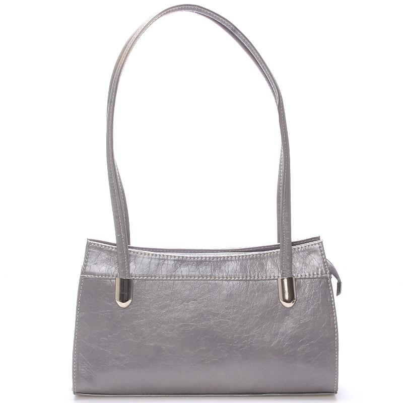 Šedá elegantní menší kabelka přes rameno Royal Style 0809