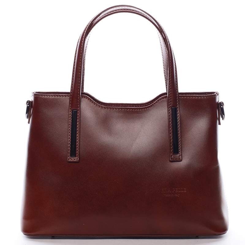 Menší kožená kabelka hnědá - ItalY Alex