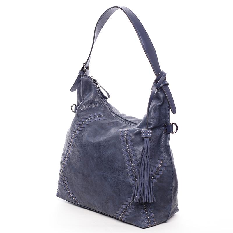 Originální dámská tmavě modrá kabelka s odleskem- MARIA C Gelasia