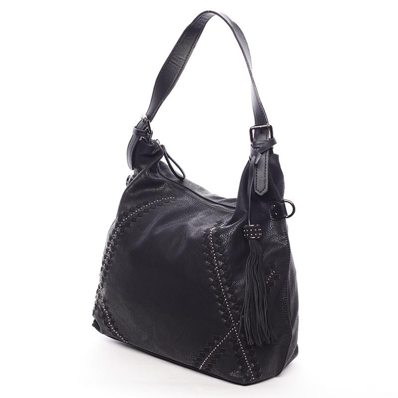 Originální dámská černá kabelka s odleskem- MARIA C Gelasia