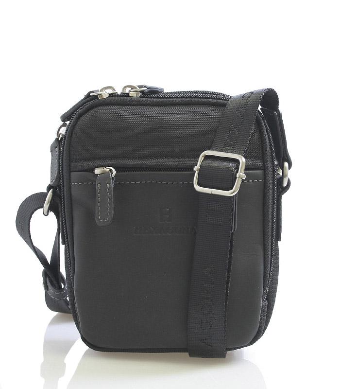 Černá pánská taška přes rameno Hexagona 291329