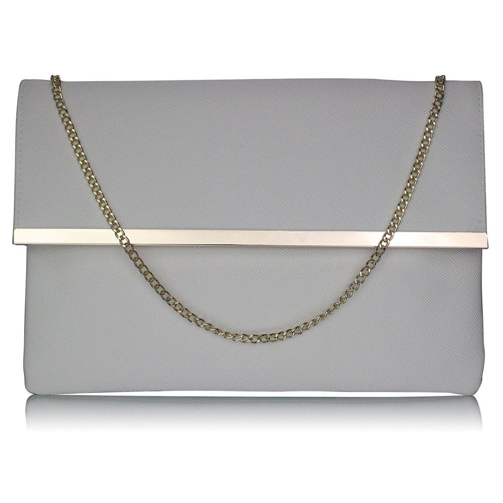 Luxusní bílé listové psaníčko LS Fashion 0279