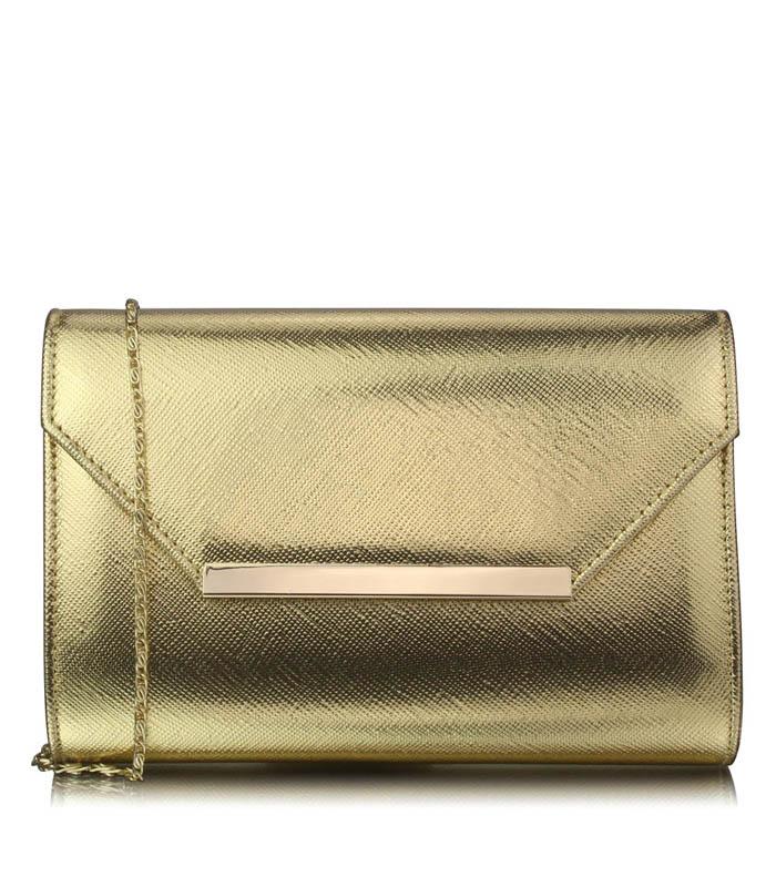 Luxusní zlaté psaníčko LS Fashion 0293