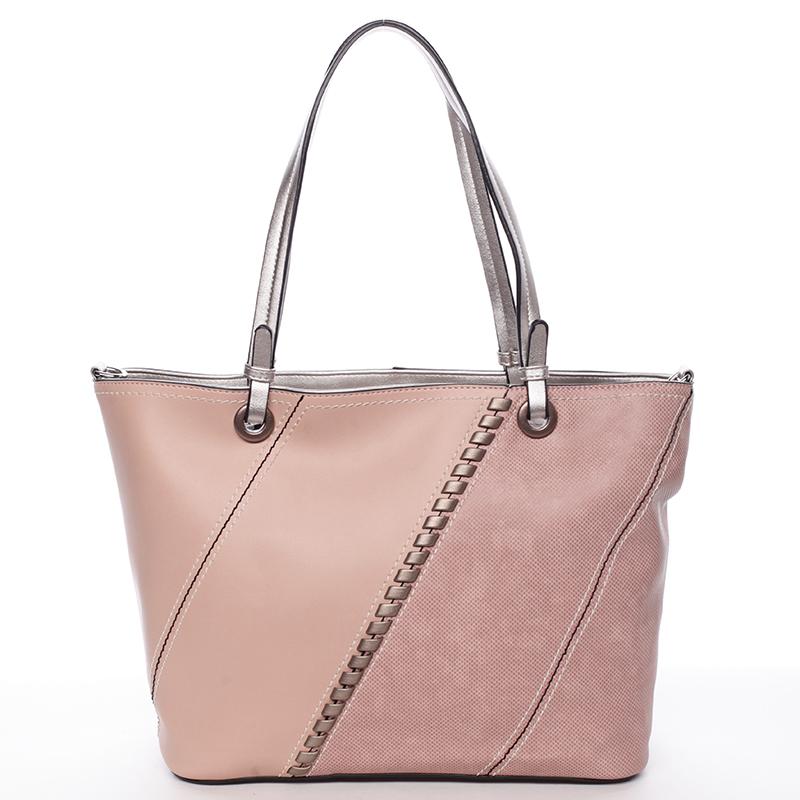 Exkluzivní dámská kabelka přes rameno růžová - MARIA C Fatima