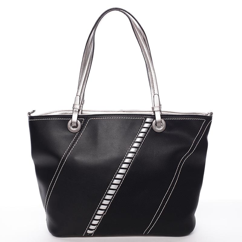 Exkluzivní dámská kabelka přes rameno černá - MARIA C Fatima