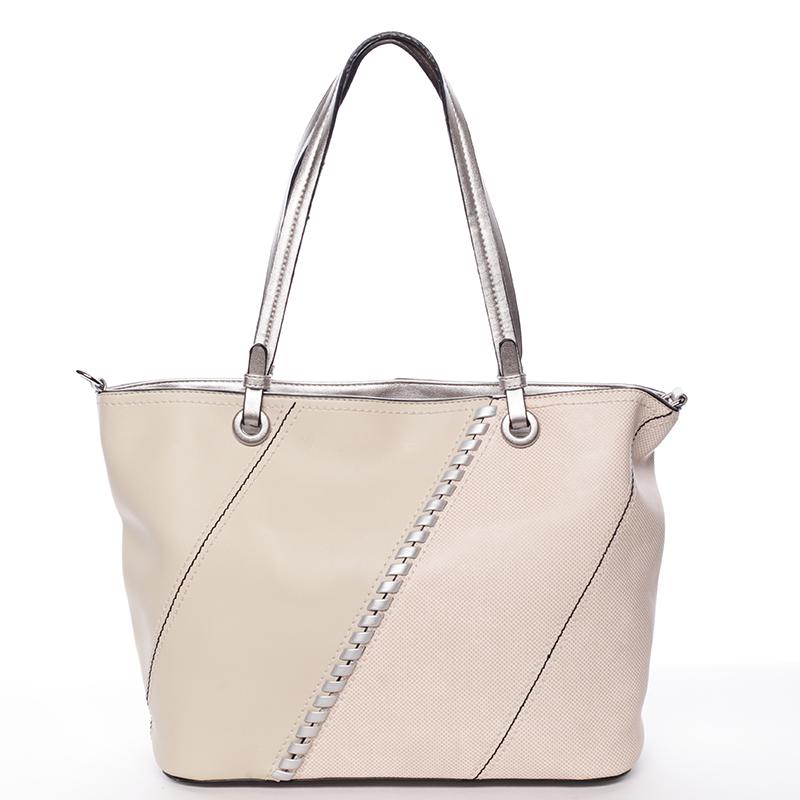 Exkluzivní dámská kabelka přes rameno béžová - MARIA C Fatima