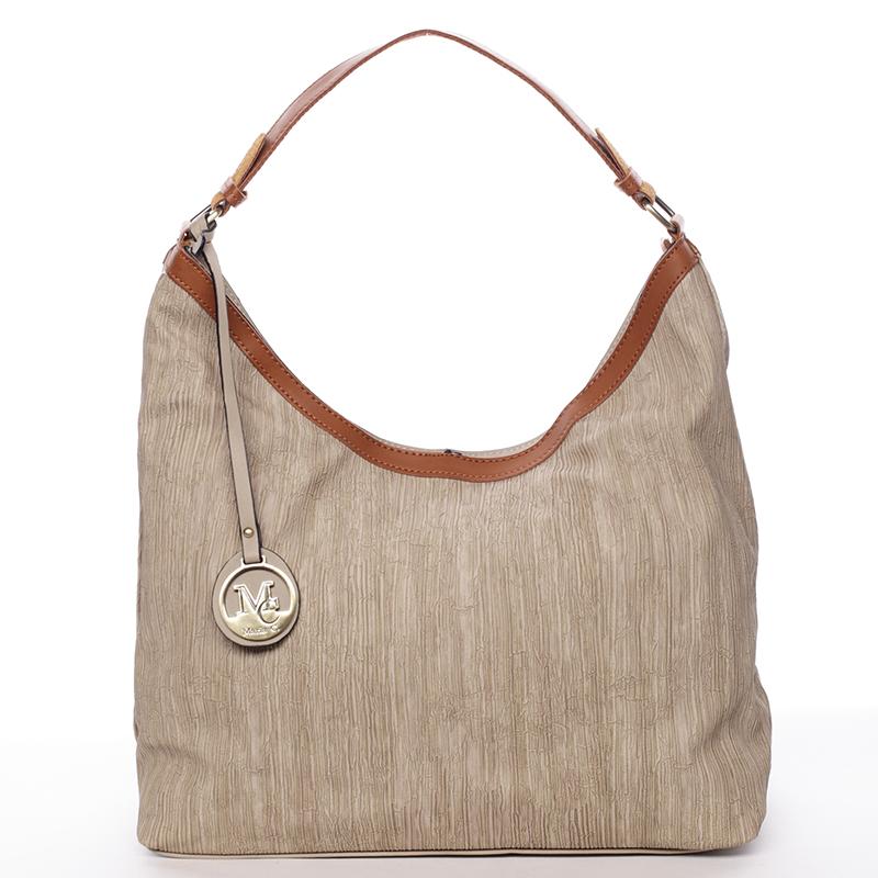 Originální dámská kabelka přes rameno taupe - MARIA C Ryann