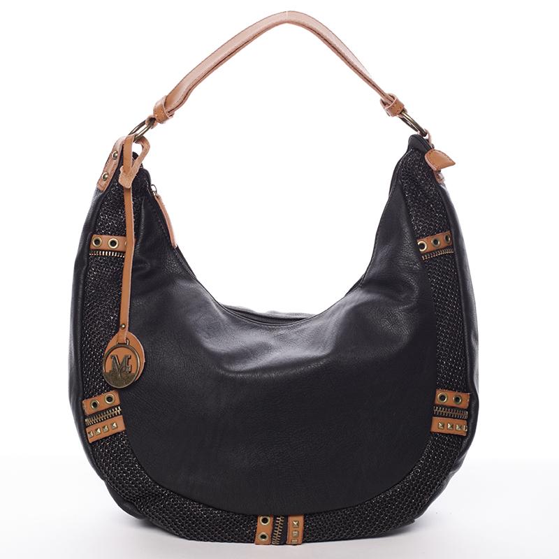 Trendy dámská měkká kabelka černá - MARIA C Zariah