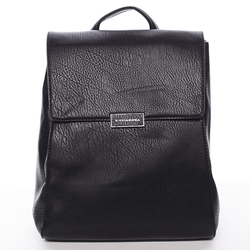 Trendy dámský městský batůžek černý - Silvia Rosa Cailyn