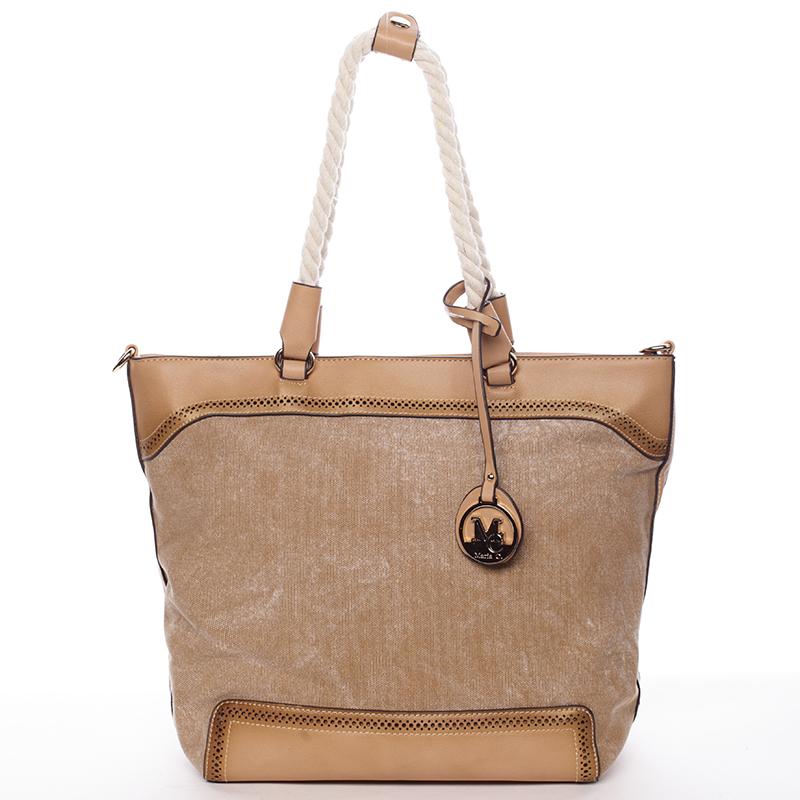 Jedinečná dámská kabelka přes rameno hnědá - MARIA C Janelle