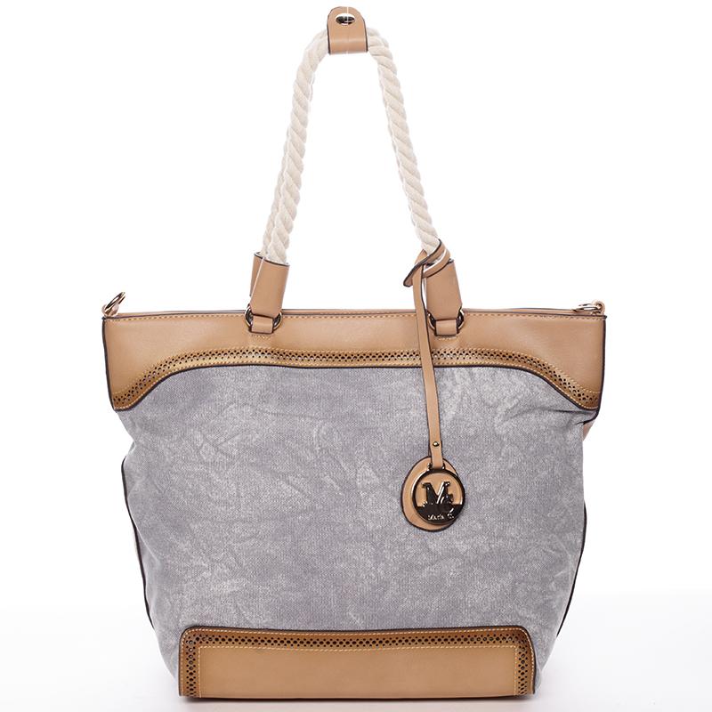 Jedinečná dámská kabelka přes rameno šedá - MARIA C Janelle