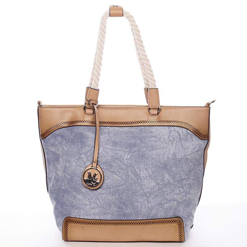 Jedinečná dámská kabelka přes rameno modrá - MARIA C Janelle