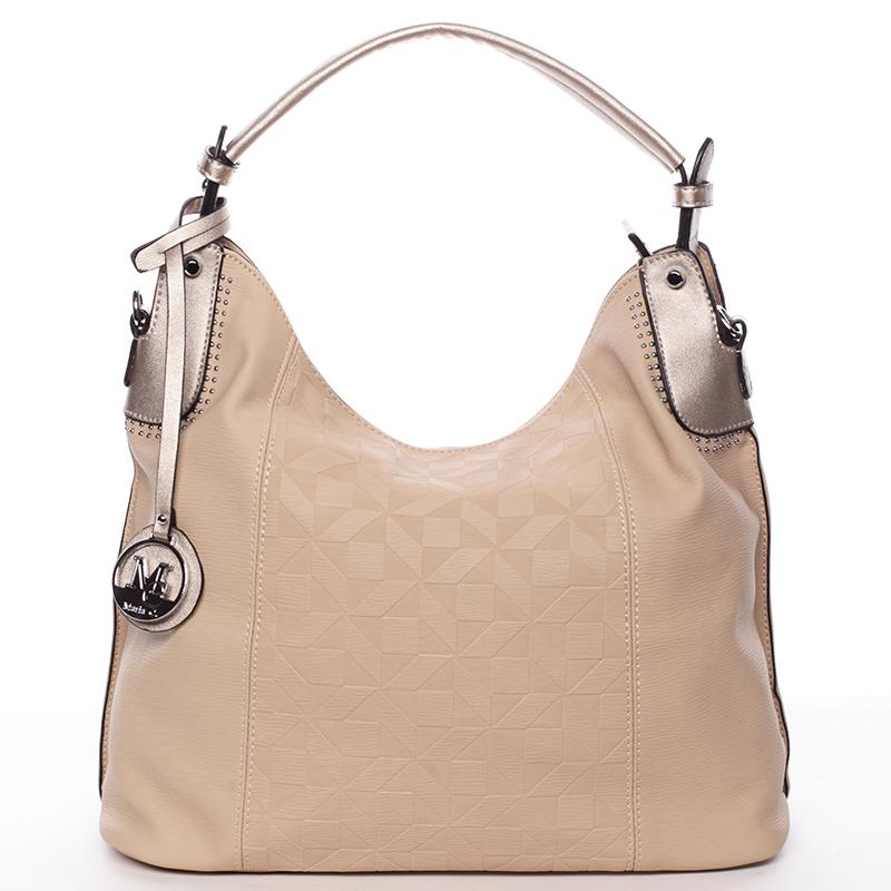 Jedinečná dámská kabelka pro každý den meruňková - MARIA C Parker