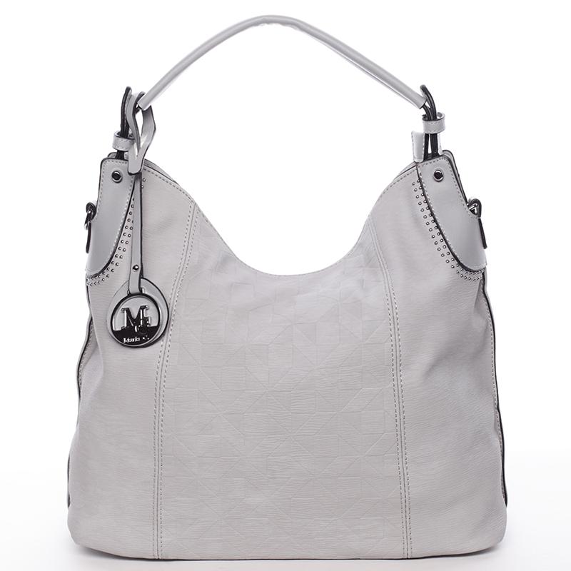 Jedinečná dámská kabelka pro každý den šedá - MARIA C Parker