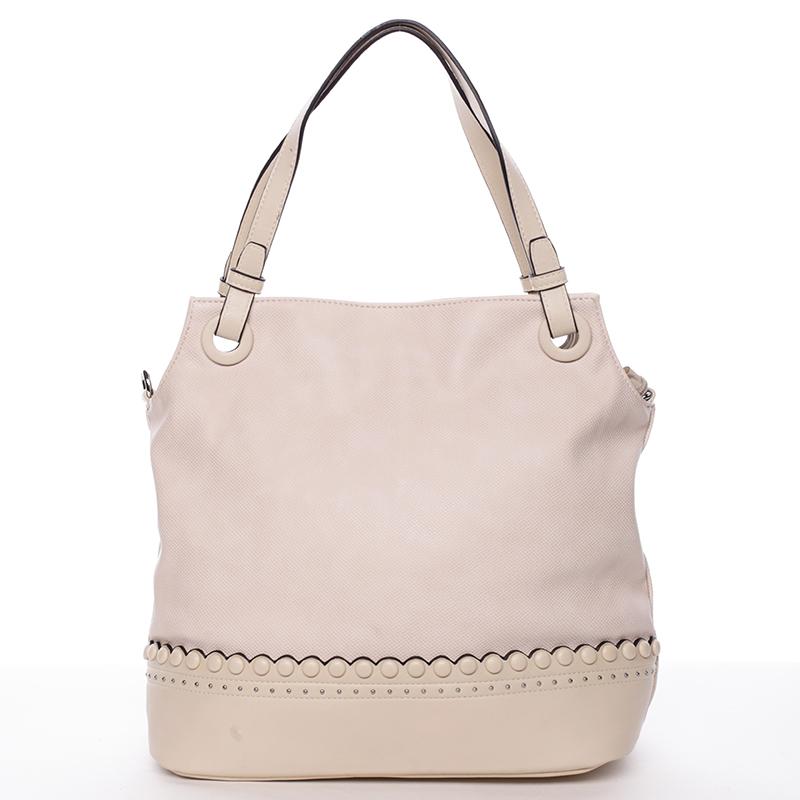 Módní dámská kabelka na předloktí béžová - MARIA C Skylar