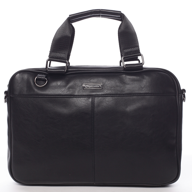 Měkká taška na spisy a notebook černá - Bellugio Maris