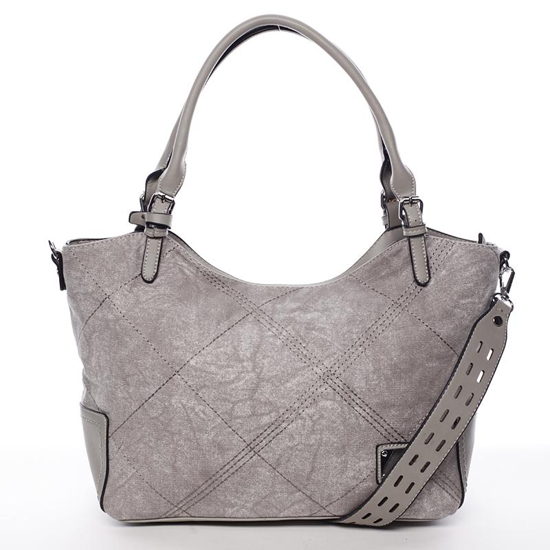 Módní dámská kabelka šedá - MARIA C Myrtis