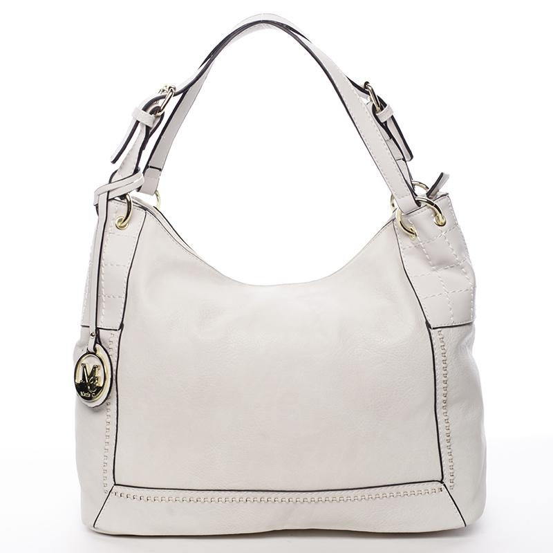 Větší dámská béžová prošívaná kabelka - MARIA C Minta