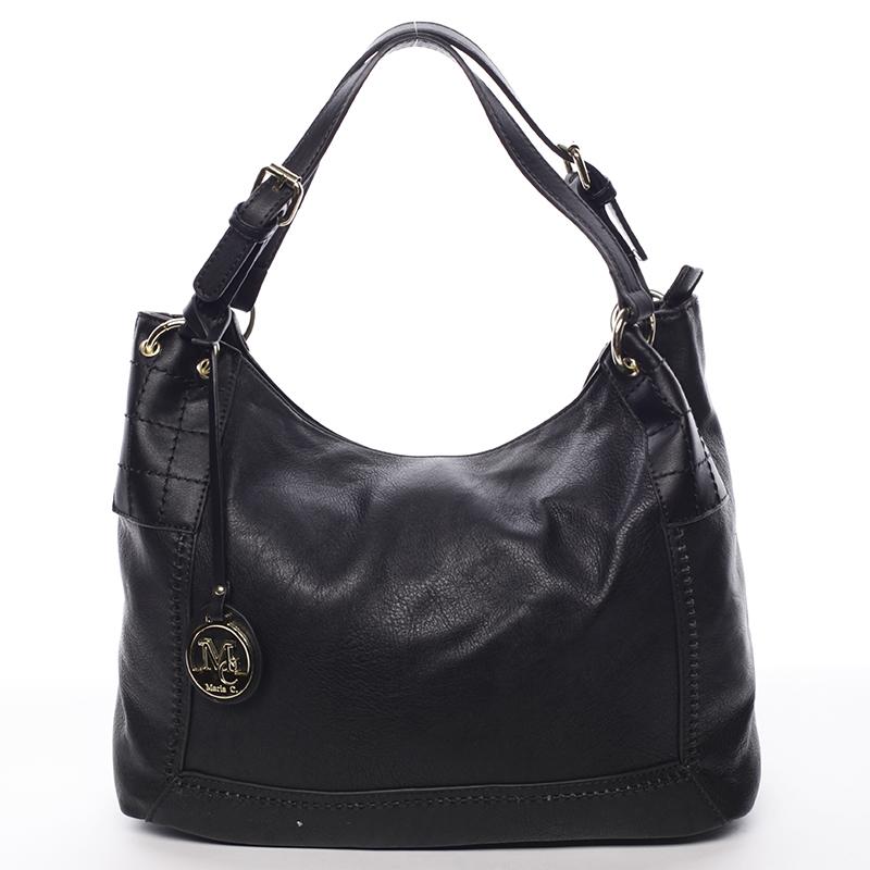 Větší dámská černá prošívaná kabelka - MARIA C Minta