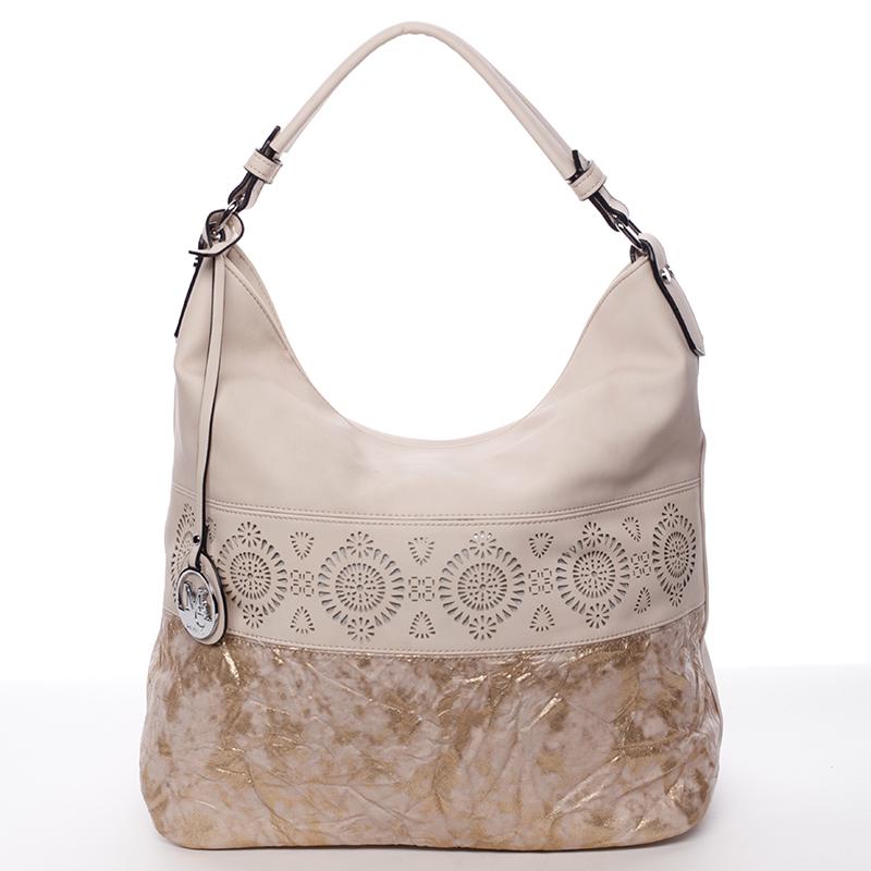 Luxusní a exkluzivní měkká velká dámská kabelka růžová - MARIA C Missa