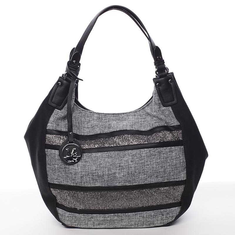 Oblá elegantní dámská kabelka přes rameno černá - MARIA C Naiya