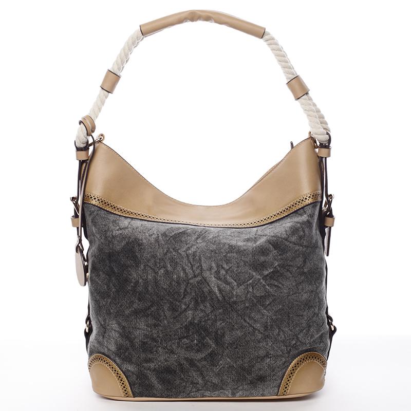 Velká atraktivní kabelka přes rameno černá - MARIA C Mimis