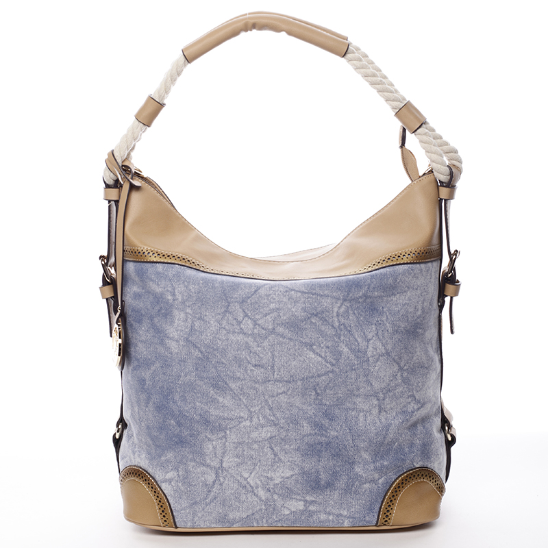 Velká atraktivní kabelka přes rameno modrá - MARIA C Mimis