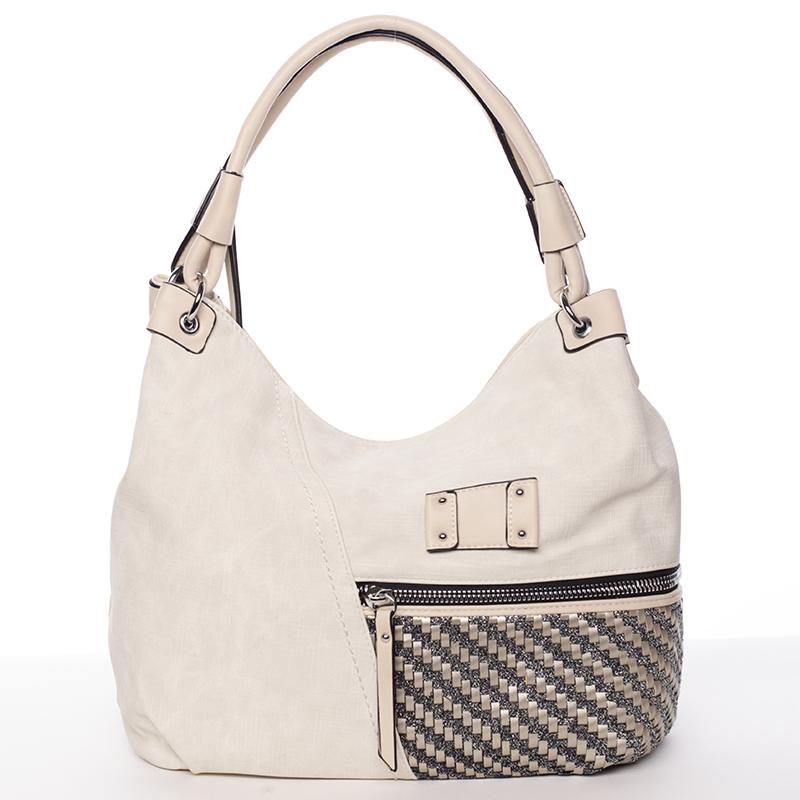 Dámská jemně strukturovaná béžová kabelka - Maria C Meggy
