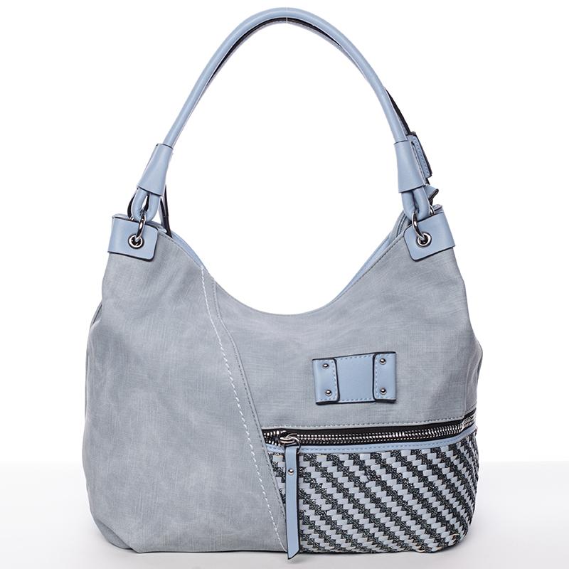 Dámská jemně strukturovaná modrá kabelka - Maria C Meggy