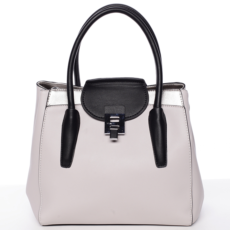 Moderní menší dámská kabelka světle šedá - Tomassini Sloane