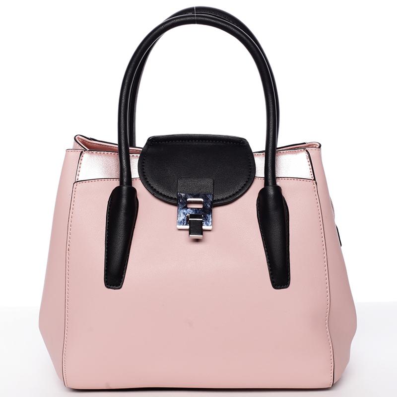 Moderní menší dámská kabelka růžová - Tomassini Sloane