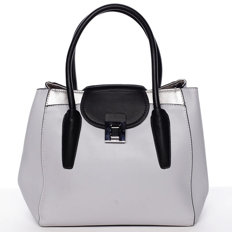 Moderní menší dámská kabelka šedá - Tomassini Sloane