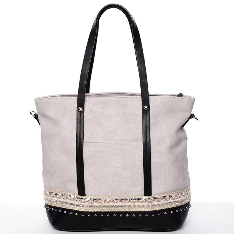 Atraktivní dámská kabelka přes rameno šedá - Tommasini Melba