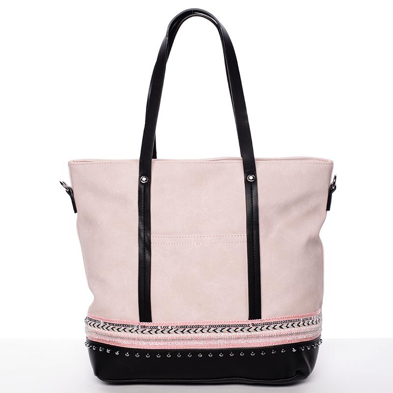 Atraktivní dámská kabelka přes rameno světle růžová - Tommasini Melba