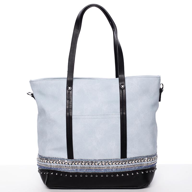 Atraktivní dámská kabelka přes rameno modrá - Tommasini Melba