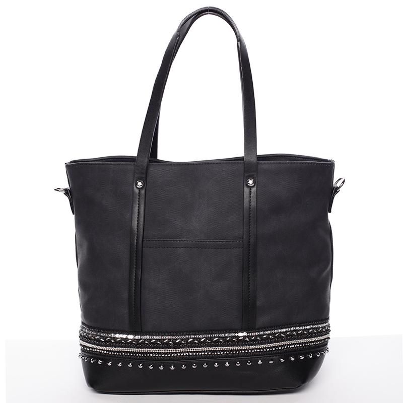 Atraktivní dámská kabelka přes rameno černá - Tommasini Melba