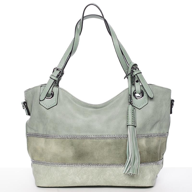 Originální dámská kabelka přes rameno zelená - MARIA C Aliyah