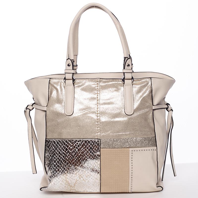 Exkluzivní dámská kabelka krémová - MARIA C Addisyn