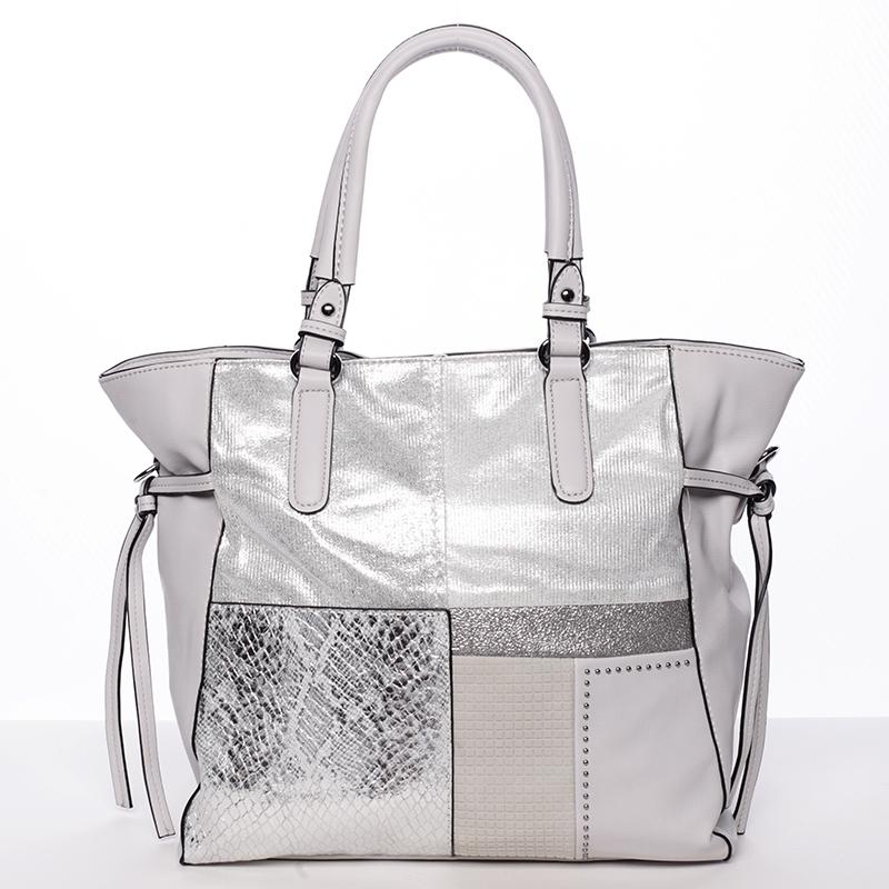 Exkluzivní dámská kabelka šedá - MARIA C Addisyn