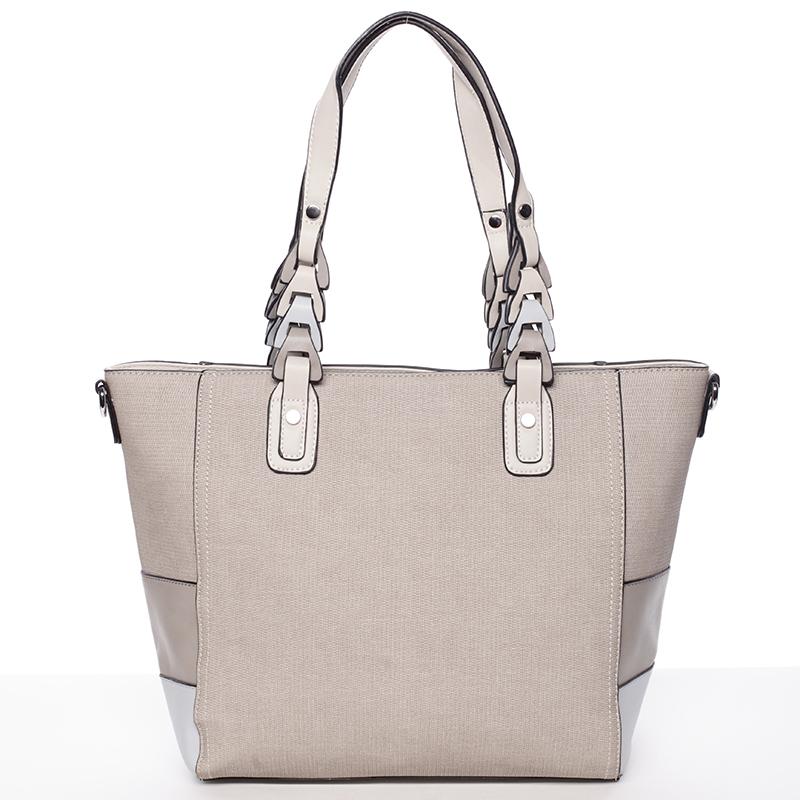 Jedinečná dámská kabelka přes rameno šedá - MARIA C Nola