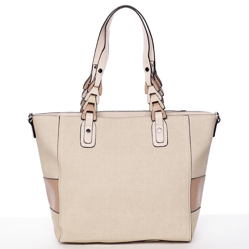 Jedinečná dámská kabelka přes rameno béžová - MARIA C Nola